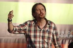 Pablo Iglesias, Podemos Foto de archivo libre de regalías