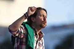 Pablo Iglesias, Podemos Imagem de Stock Royalty Free