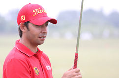 Pablo Larrazabal at golf French Open 2010 Royalty Free Stock Images