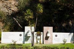 Pablo Neruda & Gabriela Mistral Monuments - Vina Del Mar - o Chile imagens de stock