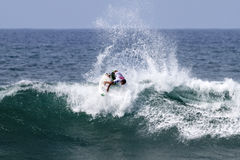 Pablo Paulino surfing in the Triple Crown Hawaii Stock Images