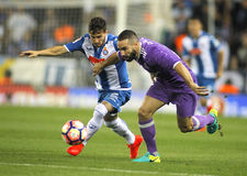 Pablo Piatti rcd espanyol Carvajal i Dań Real Madrid zdjęcia royalty free