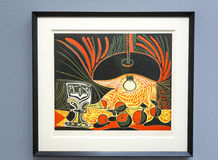 Pablo Picasso - bij het museum van Albertina in Wenen royalty-vrije stock foto's