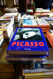 Pablo Picasso Book. Picasso demonstrated extraordinary artistic talent in his early years, painting in a naturalistic manner through his childhood and Stock Photography