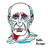 Pablo Picasso Portrait ilustración del vector