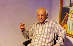 Pablo Picasso, statua della cera, figura di cera, statua di cera immagini stock