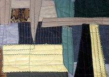 Pablo Picasso style patchwork. Fragment of the cubism style patchwork as background Stock Photo