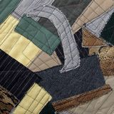Pablo Picasso style patchwork. Fragment of the cubism style patchwork as background Stock Image