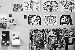Pablo Picasso tolkning royaltyfria foton