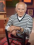 Pablo Picasso vaxar statyn Arkivbild
