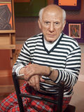 Pablo Picasso wax statue. At the famous Madame Tussaud's museum in Bangkok, Thailand Stock Photography