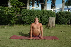Pablo3. Man doing yoga royalty free stock photos