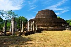 Pabulu Vihara stupa. In Polonnaruwa, Sri Lanka Royalty Free Stock Photography