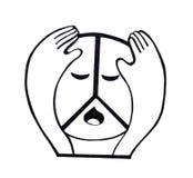 ` Pacífico do ` triste do símbolo de paz da hippie ilustração royalty free