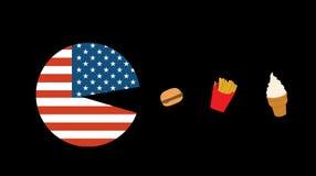 Pac-homme américain Images libres de droits