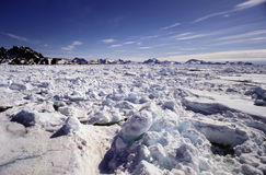 Pac ice Greenland. Pac ice in eastern Freenland Ammassalik Royalty Free Stock Photography