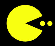 Pac Man in action royalty free stock photography