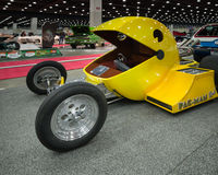 1982 Pac-Man Hot Rod. DETROIT, MI/USA - MARCH 6, 2015: A 1982 Pac-Man (Pacman) hot rod, on display at the Detroit AutoRama Stock Images