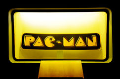 Pac-Man Trade Mark Lettering, Iconic Retro Entertainment, Vintage Games Stock Image