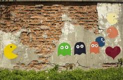 Pac-Manngraffiti Lizenzfreies Stockfoto