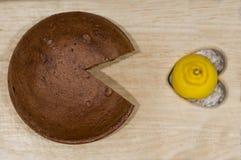 Pac-uomo del cioccolato Fotografia Stock Libera da Diritti