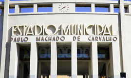 Pacaembu Municipal Stadium in Sao Paulo, Brazil. Royalty Free Stock Photo