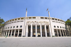 Pacaembustadion in Sao Paulo, Brazilië Stock Afbeelding