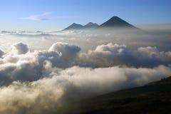 pacaya视图火山 免版税库存照片
