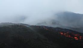 Pacaya lava flow near Antigua, Guatemala Royalty Free Stock Images