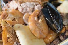 Paccheri紧密相联的scoglio或礁石paccheri 图库摄影