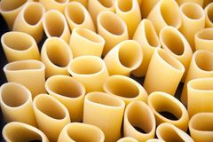 Paccheri, italian pasta. A typical kind of italian pasta Stock Images