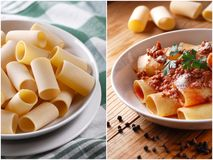 Paccheri Neapolitans with meat sauce Royalty Free Stock Photography