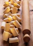 Paccheri raw, traditional Neapolitan pasta Royalty Free Stock Photos