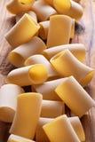 Paccheri raw, traditional Neapolitan pasta Royalty Free Stock Photo