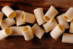 Paccheri raw, traditional Neapolitan pasta Royalty Free Stock Photography