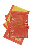 Pacchetti cinesi di colore rosso di nuovo anno Immagini Stock Libere da Diritti