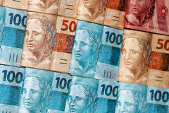 Pacchetti dei contanti del Brasile Immagine Stock Libera da Diritti