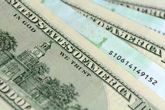 Pacchetti dei dollari e di euro soldi Fotografia Stock