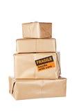 Pacchetti del Brown Immagine Stock
