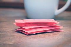 Pacchetti del dolcificante artificiale Fotografia Stock