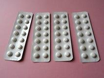Pacchetti della striscia di compresse del farmaco di prescrizione Immagine Stock