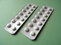 Pacchetti della striscia di compresse del farmaco di prescrizione Fotografia Stock Libera da Diritti