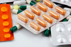 Pacchetti delle pillole Fotografia Stock Libera da Diritti