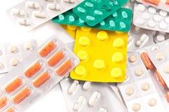 Pacchetti delle pillole Immagini Stock