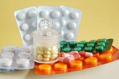 Pacchetti delle pillole Fotografia Stock
