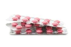 Pacchetti delle pillole isolate su bianco Fotografie Stock Libere da Diritti