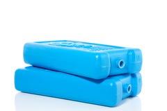 Pacchetti di ghiaccio blu fotografia stock