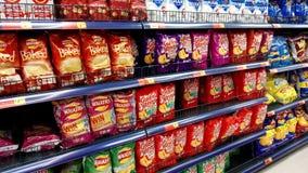 Pacchetti di patatine fritte fotografie stock libere da diritti