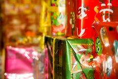 Pacchetti strutturati di Natale Fotografia Stock Libera da Diritti