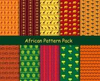Pacchetto africano del modello Fotografie Stock